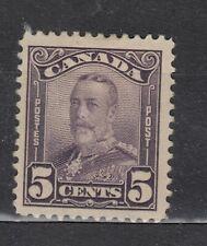 1928-1929 #153 5¢ KING GEORGE V SCROLL ISSUE F-VF