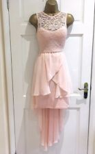 Ex QUIZ Pink Lace Dip Hem High Low Sparkly Midi Party Dress 4 6 8 10 12 14 16 18