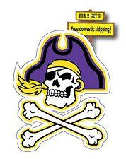 "ECU East Carolina University Pirates Decals/Stickers 3.2 x 4"" E1"