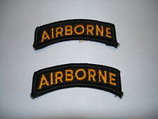 Airborne Tab Color Black Gold New Set of 2 Embroidered Sew On