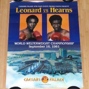 SUGAR RAY LEONARD VS THOMAS HEARNS WELTERWEIGHT CHAMP 1981 BOXING MATCH POSTER
