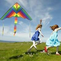 Regenbogen Dreieck Drachen Outdoor Kinder Fun Sports Kids Toys Air Fly Kites