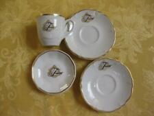 4 Fairmont Hotel San Francisco Shenango Demitasse Coffee Cup Saucers + Butterpat