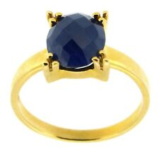 Ring 585 Gold massiv 3,3g blauer Saphir 1,5ct 56 59 60 (18 19 mm Ø) Sogni D´oro