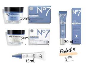 No7 Lift & Luminate Triple Action Serum, Day, Night & Eye Creams Brand New