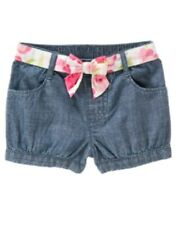 Gymboree Fairy Garden Shorts Size 18-24 Blue Cambray New Twins