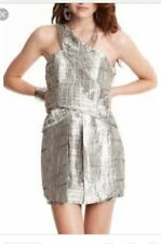 Wish DESIGNER Dress Sphere Silver Size 8 XS S Cocktail Clubbing