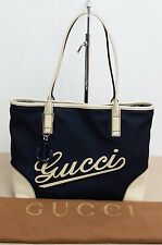 Gucci Medium Canvas Tote with Anchor Charm GentlyUsed Authentic w/ Dustbag