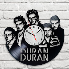 Duran Duran band design vinyl record clock home decor art club playroom hobby