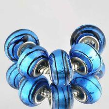 D6058 5pcs Silver GF MURANO GLASS BEADS LAMPWORK fit European Charm Bracelet