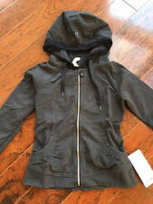 NWT Lululemon Movement Jacket with Lace & Ruffle Trim Hood - Dark Gray Size 8
