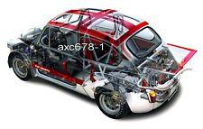 Fiat Abarth 1000 TCR Gruppe 2 / 1965 - Bild Schnittzeichnung