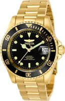 Invicta Men's Watch Pro Diver Dive Yellow Gold Stainless Steel Bracelet 8929C