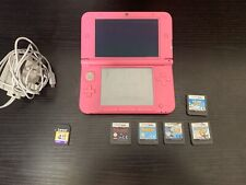 Nintendo 3DS XL Pink Console With X5 Games Star Wars The Incredibles And More