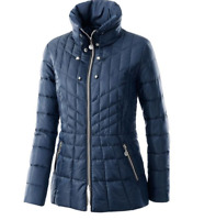 Flatteringly Shaped Padded and Quilted Thigh Length, Funnel Neck Winter Jacket