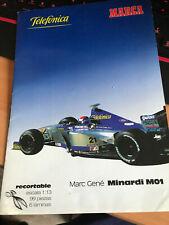 Maqueta recortable Marc Gene Minardi M01 F1 Formula 1 1:13 1/13 FIA
