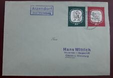 Brief Atzendorf über Merseburg 1958 DDR Landpost (24