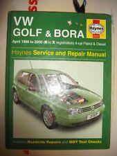 Haynes Workshop Manual VW Golf 98-00 VW Bora 98-00 Petrol Diesel 4-cyl Turbo