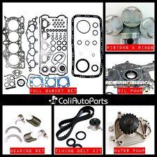 FITS: 90-95 Acura Integra 1.8L B18A1 DOHC 16V Master Engine Rebuild Kit GRAPHITE