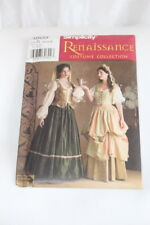 Renaissance Serving Wench Sewing Pattern Simplicity 3809 Misses Costume 10-14