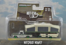 Greenlight Green Machine 1970 Ford F-100 Hitch & Tow Popup Camper Trailer Chase