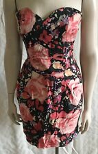 Cute Sweetheart Dress In Floral Print In Small