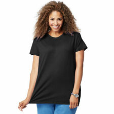 Just My Size 4X  Tee Top Soft Cotton  Shirred Scoop Neck L//S Brown