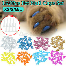 160pcs Pet Nail Caps for Soft Cat Paws Kit Claw Control Paws off Adhesive
