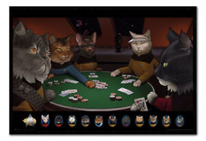 Star Trek Cats Playing Poker Poster Magnetic Notice Board Inc Magnets