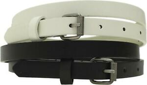 Mossimo Women's Two Pack Skinny Belts 1/2-Inch Width