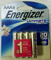 AAA8 Energizer Ultimate Lithium AAA Batteries, 8 Count L92SBP-8 - EXP 2037!!!