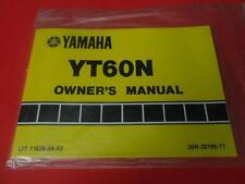 NOS NEW OEM FACTORY YAMAHA 1985 YT60 N OWNERS MANUAL