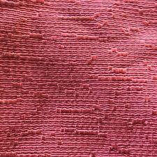 Vintage Pair Drapes Mid Century Coral Pink Pleated Textured Shine