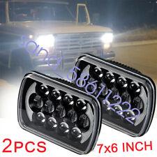 "Pair 7X6"" 5X7"" LED Headlights Hi Lo Beam DRL Bulb For Jeep Cherokee XJ Chevrolet"