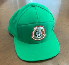 ADIDAS Mexico Soccer Adjustable Hat Cap Green NEW