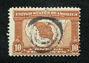 US Stamp Scott #327 ~ Louisiana Territory 10c 1904 Used GR04