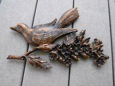 Vintage Plastic Bird Flowers Wall Art Syroco Nursery