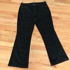 Lane Bryant Women's Jeans Size 18 Regular Bootcut Genius Fit Stretch Dark Wash