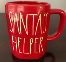 Rae Dunn Red Santa's Helper Christmas Mug