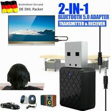 USB Bluetooth V5.0 Audio Transmitter Sender für TV PC Lautsprecher Kopfhörer DE