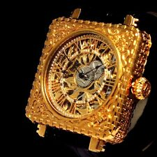 Vintage Mens Wrist Watch Gold Jewelry OMEGA Skeleton Luxury Swiss Men's Watches