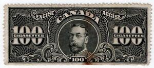 (I.B) Canada Revenue : Cigarette Duty Seal (100)