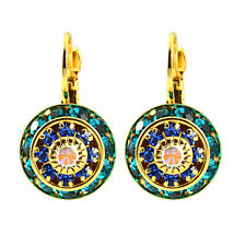LIZ PALACIOS Gold Plated Round Drop Earrings