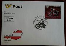 FDC Motorräder 2018: KTM R 125 Tourist Bj. 1955 Michel-Nr.3387 zum Postpreis