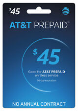 AT&T Prepaid SIM preloaded with $45 plan 6GB DATA (FREE 2 DAYS SHIPPING)