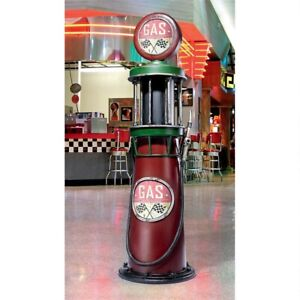 "71.5"" Service Station Vintage Style Gas Pump Metal Sculpture Collectible"