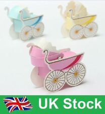 Baby Shower Christening Boy/Girl Pram Sweet Candy/Gift Favour Boxes-Fast Post