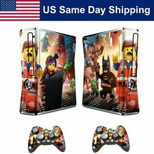 Vinyl Sticker Cover Skin Decal for Xbox 360 Slim Console & 2 Controllers Set