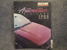 Acme 1988 Automotive Finishes Color Manual Guide Color Code Chart Book OA-100288