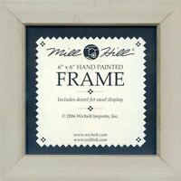 MILL HILL FRAME 6 x 6 in Fits Mill Hill Button&Bead Cross Stitch Kits TAUPE Tan